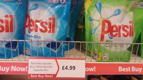 45 persil capsules £4.99 @ Heron