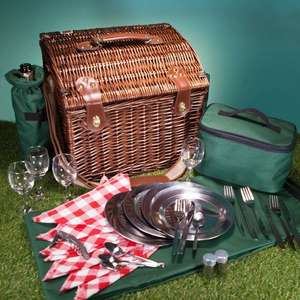 Luxury Dark Willow Four Person Picnic Basket  76% OFF £21.58 / £25.57 delivered @ Prezzy box