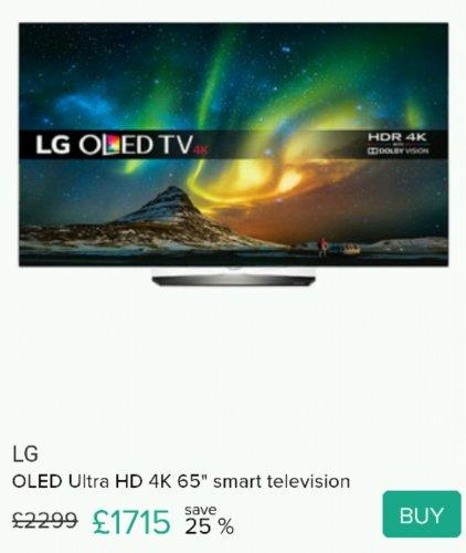 OLED65B6V 4k HDR OLED TV @ SECRETSALES - £1722
