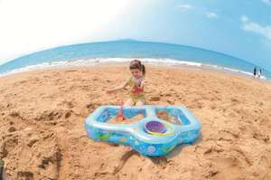 Baby / toddler inflatable 3 section sandpit / paddling pool with repair patch £6.99 delivered @ eBay sold by pulsar777pulsar