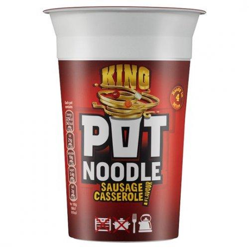 King Pot Noodle (Sausage Casserole flavour) 29p @ B&M