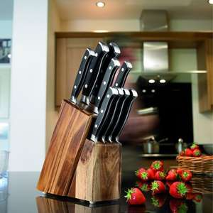 TAYLORS EYE WITNESS 9-Piece Acacia Wood Knife Block Set Tesco Instore - £30 (Taplow)