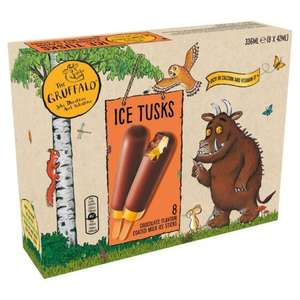 Gruffalo Ice Tusks Ice Lollies £2.47 for 8 or 2 packs for £3 @ Morrisons