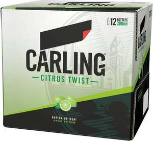 carling citrus twist Lager  @ asda  £2.50 for 12 x 300ml