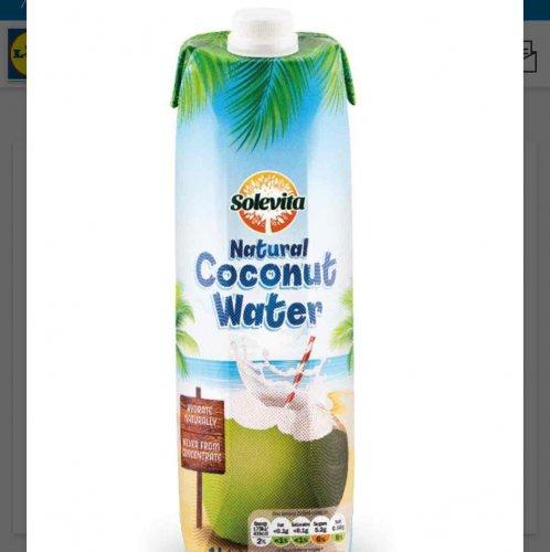 Solevita Coconut Water 1L 99p @ Lidl
