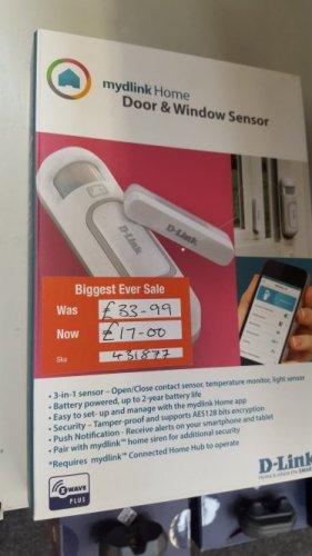 mydlink™ Home Door/Window Sensor @ Lincoln  staples was £33.99  now £17.00