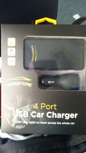 Car 4 socket USB 6.8A. 1.8m lead so can reach whole car. instore £6.99 @ Home bargains