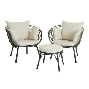 Wilko egg chair rattan bistro set £180 save £45! @ Wilko