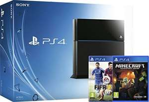 Sony PlayStation 4 Console with FIFA 15 and Minecraft (USED) - Acceptable - £123.78 / Good - £131.15 / Very Good - £138.52 / Like New £141.46 @ Amazon Warehouse deals
