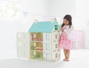 Beautiful Wooden Light Up Dolls House (was £50) Now £40 @ Asda George
