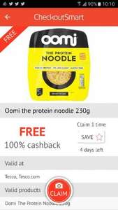 Oomi Noodle 230g  (£2.50) FREE via CheckOutSmart and Clicksnap at Tesco