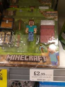 minecraft survival figure pack £2.99 @ home bargains