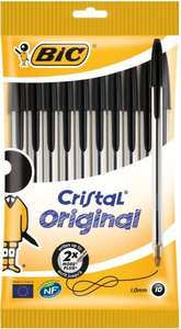 Bic Cristal Ball Pens Black or Blue or Assorted Medium 10 Pack Half Price was £3.00 now £1.50 @ Tesco