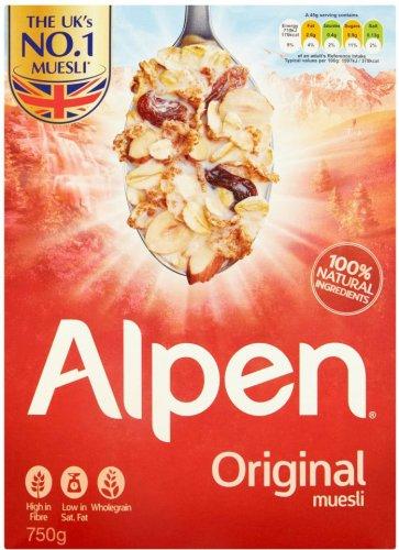 Alpen Original Muesli (750g) Half Price Was £2.79 Now £1.39 @ Tesco