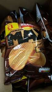 Walkers Mac flame grilled steak 80g bag 29p a pack in store Heron Foods