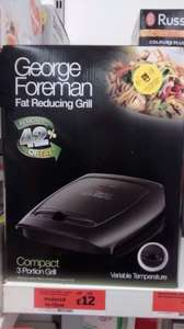 George Foreman Compact 3 Portion Grill - Model 18851 - Sainsburys Instore - £12