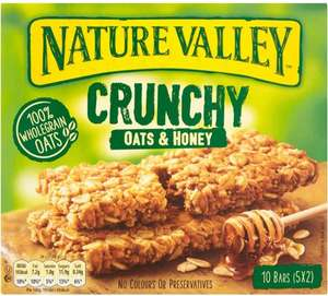 Nature Valley Crunchy Oats & Honey Cereal Bars (5 x 2 pack = 42g each pack = 210g) was £2.34 now £1.00 @ Morrisons