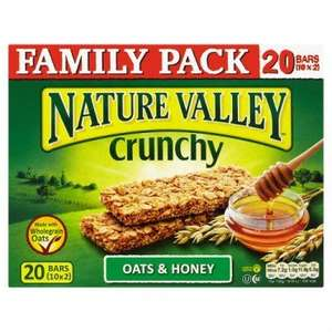 Nature Valley Crunchy Oats & Honey Granola Bars (20 bars = 10 x 2) ONLY £2.00 @ Poundland