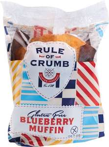 Rule of Crumb Triple Chocolate Muffin / Blueberry Muffin (Gluten Free) (100g) was £1.25 now 62p @ Ocado