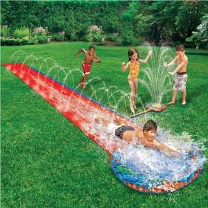 16 foot soak and splash water slide with spray & sprinkler £10.99 delivered - more in post @ eBay sold by pink_and_blue_gifts1