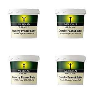 Meridian Peanut Butter CRUNCHY (4 x 1kg) £10.67 @ Amazon - Dispatched from and sold by Superfood Market