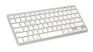 Ebuyer; Xenta Wireless Bluetooth Keyboard - Silver & White Free Delivery £14.97 now £5.98
