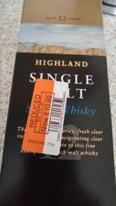 Highland 12 year old single malt whisky - £10.99 instore @ Co-Op