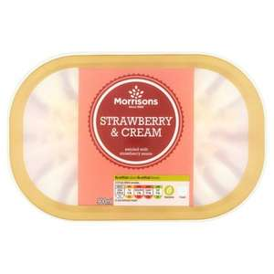 Morrisons own ice cream half price £1 instore and online