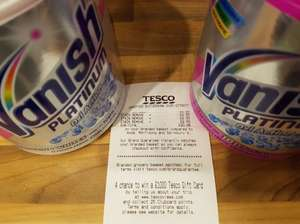 Vanish Platinum Pink / White 940G - £2.50 instore @ Tesco