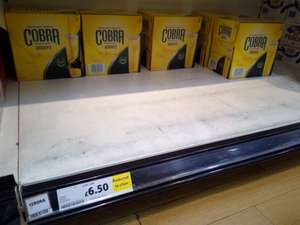 Cobra beer, 12 for 6.50. Clearance @ Tesco (Ricoh Coventry)