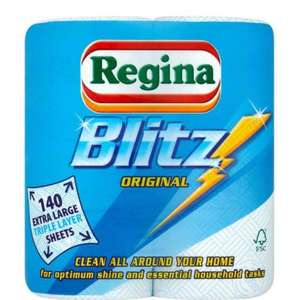Regina Kitchen Towels Blitz 2 Rolls £2.00 in-store & online @ Tesco