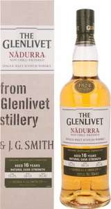 The Glenlivet - 16 yo - Nadurra Cask Strength - Speyside Single Malt Scotch Whisky - 70cl £40 Del @ Amazon