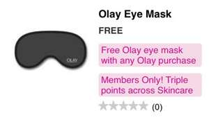 Oil Of Olay BOGOF or BOGOHP + Free Eye Mask £2.69 + Triple Points at Superdrug