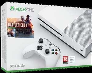 Xbox One S 500gb with either Battlefield 1 or Fifa 17 with either 2% or 3% Quidco £199.85 @ ShopTo