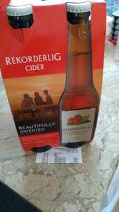 Asda, Rekorderlig cider reduced from £5 to £1.57 4 pack.