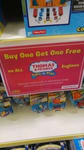 Thomas & Friends. Buy 1 get 1 free. £6.49 at Smyths