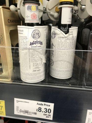 Angostura Bitters - £8.30 each - instore @ Asda