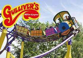 Gullivers World May weekend and half term week tickets were £21.95 now £15 - save 21% plus free return visit for kids with a sock puppet @ Little Bird