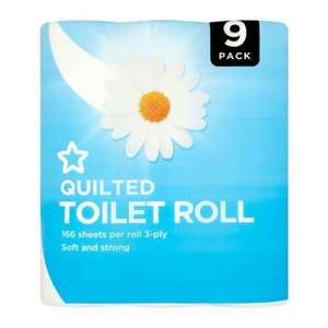 Superdrug Toilet Rolls 3 Ply x 9 back down to £2 a pack