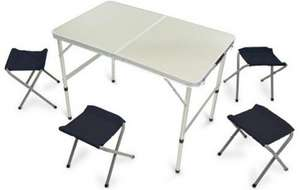 Halfords Folding Picnic Table With 4 Stools £30 + 3% quidco