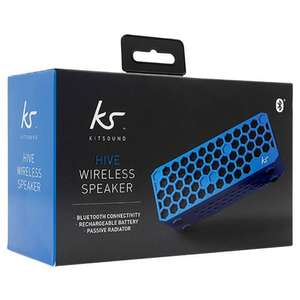 New KitSound KSHIVEBL Hive Universal Wireless Bluetooth Portable Speaker £19 Delivered @ Tesco Outlet eBay