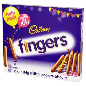 Cadbury chocolate fingers 228g (2x114g) £1.00 in store one stop shops