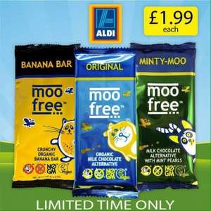 Vegan Chocolate Bars 100g 3 varieties £1.99 at Aldi