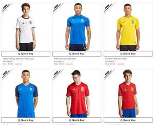 Football Shirts - Club and International 2016/2017 from £10.00 with FREE click and collect at JD Sports