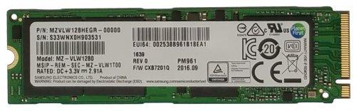 128GB Samsung PM961 Polaris  M.2 NVME £55.85 - flexxmemory