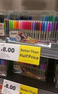 Sharpie permanent marker pen set x 30 - Electro pop limited edition set - £8  reduced from £22 instore / online @  Tesco