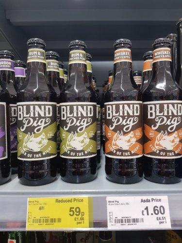 Blind Pig cider 59p Asda instore