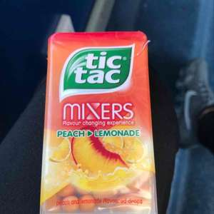 peach lemonade tictacs 49g 29p each or 4 for £1 @ heron foods