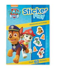 Paw Patrol sticker books, colouring books and soft balls £1.49 each delivered @ Aldi