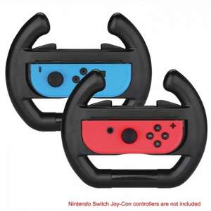 Kitbon Wear-Resistant Joy-Con Steering Wheels for Nintendo Switch 2PK £5.61 Delivered @ DX.com